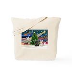 XmasMagic/2 Scotties (P3) Tote Bag