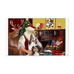 Santa / 2 Shelties (dl) 22x14 Wall Peel