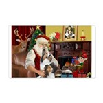 Santa / 2 Shelties (dl) 22x14 Wall Peel