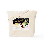 Night Flight/Sheltie Tote Bag
