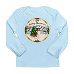 XmasMusic3/Sheltie 7 Long Sleeve Infant T-Shirt