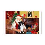 Santa's Bi Black Sheltie 22x14 Wall Peel