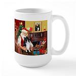 Santa's Bi Black Sheltie Large Mug