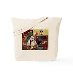 Santa's Sheltie (SW) Tote Bag