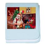 Santa's Sheltie (SW) baby blanket