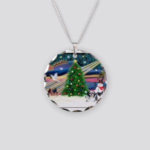 XmasMagic/Shih Tzu (11) Necklace Circle Charm