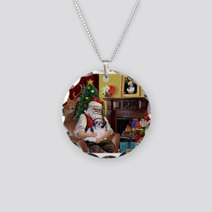 Santa's Shih Tzu (#1) Necklace Circle Charm