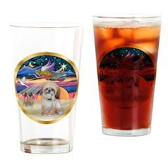 XmasStar/Shih Tzu Drinking Glass