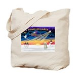 XmasStar/Sib Husky Tote Bag