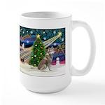 Xmas Magic & Red Husky Large Mug