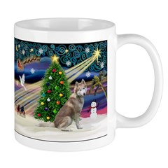 Xmas Magic & Red Husky Mug
