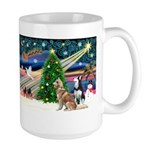 Xmas Magic & S Husky Large Mug