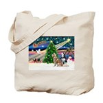 Xmas Magic & S Husky Tote Bag