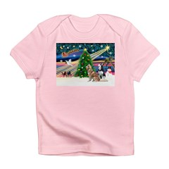 Xmas Magic & S Husky Infant T-Shirt