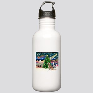 Xmas Magic & S Husky Stainless Water Bottle 1.0L