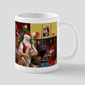 Santa's Red Husky Mug