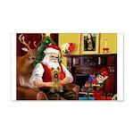 Santa's Silky Terrier 22x14 Wall Peel