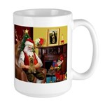 Santa's Silky Terrier Large Mug