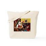 Santa's Silky Terrier Tote Bag
