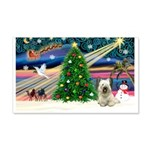 Xmas Magic & Skye Terrier 22x14 Wall Peel