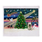 Xmas Magic & Skye Terrier Throw Blanket