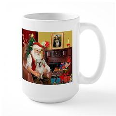 Santa/Tibetan Spaniel Large Mug