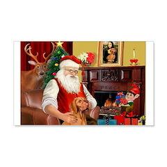 Santa's Vizsla 22x14 Wall Peel