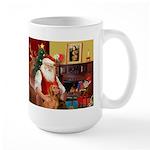 Santa's Vizsla Large Mug