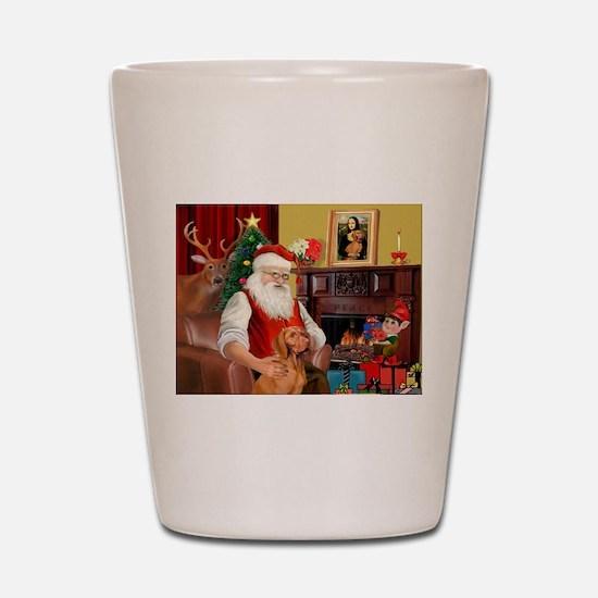 Santa's Vizsla Shot Glass