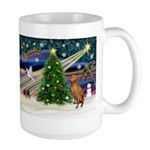 Xmas Magic & Vizsla Large Mug