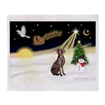 Night Flight/Weimaraner #2 Throw Blanket