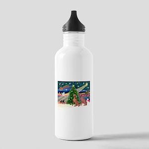 XmasMagic/2 Weimaraners Stainless Water Bottle 1.0
