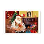 Santa's 2 Corgis (P2) 22x14 Wall Peel