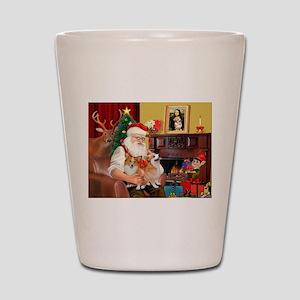 Santa's 2 Corgis (P2) Shot Glass