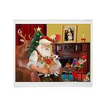Santa's 2 Corgis (P2) Throw Blanket