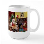 Santa's Welsh Corgi (7b) Large Mug