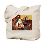 Santa's Corgi (#3P) Tote Bag