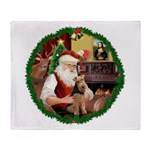 Santa's Welsh T Throw Blanket