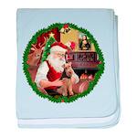 Santa's Welsh T baby blanket