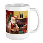 Santa's Welsh Terrier Large Mug