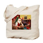 Santa's Welsh Terrier Tote Bag