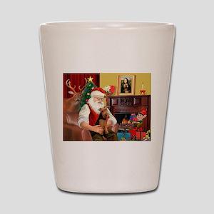 Santa's Welsh Terrier Shot Glass