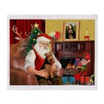 Santa's Welsh Terrier Throw Blanket