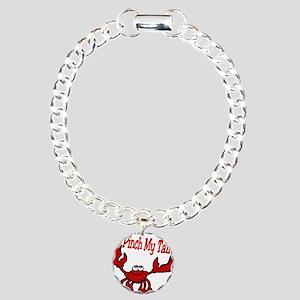 Pinch Me Smiling Crawfish Charm Bracelet, One Char