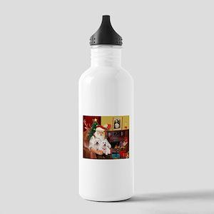 Santa's Westie pair Stainless Water Bottle 1.0L