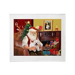 Santa's Westie Throw Blanket