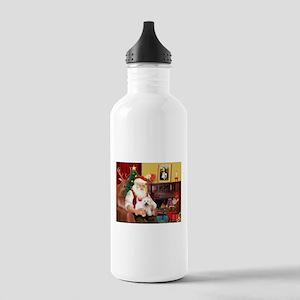 Santa's Westie Stainless Water Bottle 1.0L