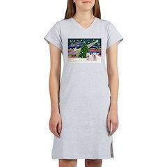 Xmas Magic & 2 Westies Women's Nightshirt
