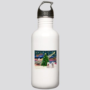 Xmas Magic & 2 Westies Stainless Water Bottle 1.0L
