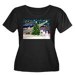 Xmas Magic & Westie Women's Plus Size Scoop Neck D